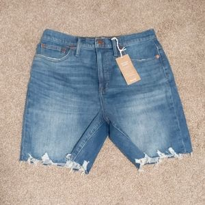 High-Rise Mid Length Denim Shorts Erwin Wash